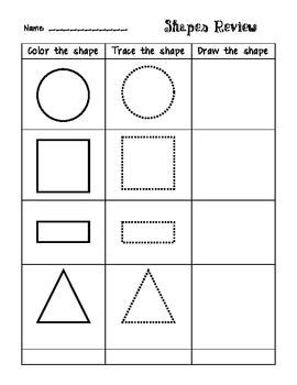 this shapes review is great for students to practice