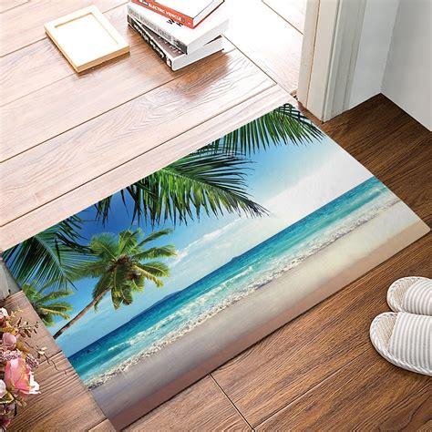 palm tree doormat aliexpress buy door mats rug summer blue