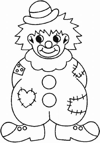 Clown Coloring Pages Wearing Clothes Clowns Face