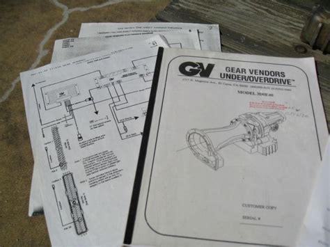 gear vendors overdrive wiring diagram 37 wiring diagram