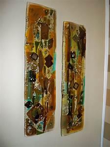 Fused glass wall art panels designer mosaics