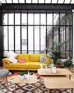 1000 idees sur le theme canape jaune sur pinterest With tapis jaune avec traiteur canapés
