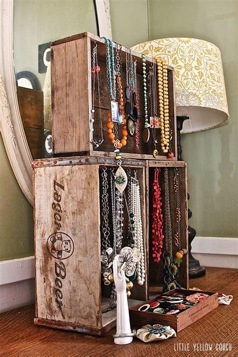 ideas  wooden jewelry display  pinterest