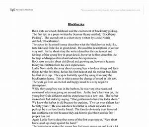 Blackberry Picking Essay professional problem solving ghostwriters ...