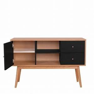 Buffet Bois Et Noir : buffet scandinave design laque mat et bois skoll by drawer ~ Melissatoandfro.com Idées de Décoration