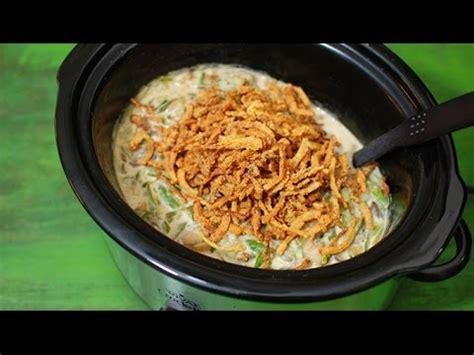 slow cooker green bean casserole casserole recipes youtube