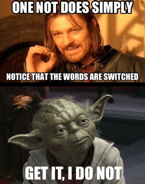 Yoda's Grammar   Funny Pictures