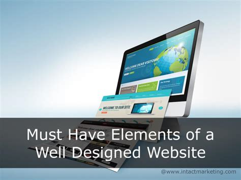 well designed websites must elements of a well designed website