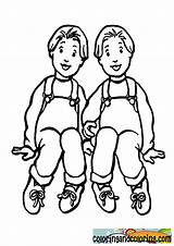 Twins Template sketch template