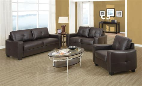 Jasmine Brown Bonded Leather Living Room Set From Coaster