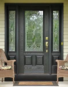 Black, Front, Entry, Door, With, Sidelights