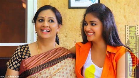 tamil actress keerthi suresh mother photos keerthi suresh latest unseen photos gethu cinema