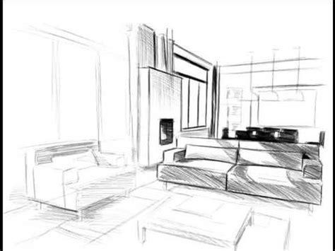 comment dessiner un canapé en perspective comment dessiner un salon gt croquis aménagement