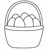 Easter Basket Coloring Pages Printable Preschoolers Print sketch template