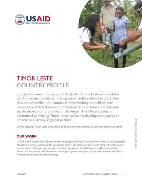 Our Work Timor Leste Us Agency For International