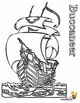 Pirate Coloring Ship Buccaneer Ships Pirates Bateau Boat Coloriage Children Boys Outline Printable Imprimer Boats Wikinger Hard Dessin Sheets Ausmalbilder sketch template