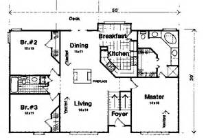 ranch floor plans with split bedrooms traditional house plan 101054 ultimate home plans