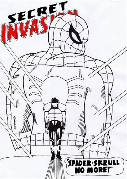 Invasion Spider Skrull Secret Fanart Central
