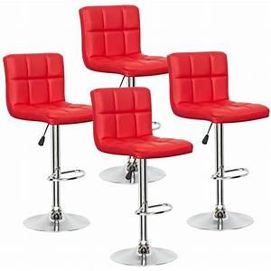 Chaise De Bar Rouge : deco in paris lot de 4 tabourets de bar rouge scalo tab rouge lot4 scalo ~ Teatrodelosmanantiales.com Idées de Décoration