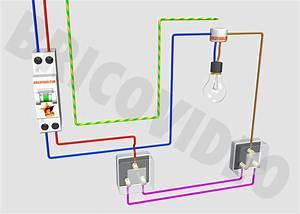 Va et vient for Quelle couleur avec le bleu 7 schema electrique le raccordement de 3 interrupteurs va