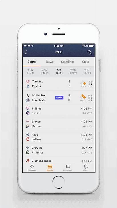 Yahoo Sports App Ios Scores Redesign Affiliate