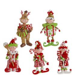 elf conga line christmas tabletop decoration dancing candy elves 3156217 new raz ebay