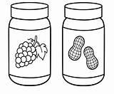 Peanut Butter Drawing Coloring Jar Getdrawings sketch template
