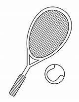 Tennis Racket Coloring Getcolorings Printable Print sketch template
