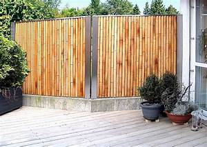 sichtschutz terrasse ideen eyesopenco With französischer balkon mit bambus sichtschutz garten