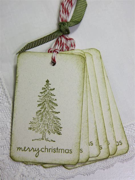 ready to ship rustic christmas tree gift tags last set for