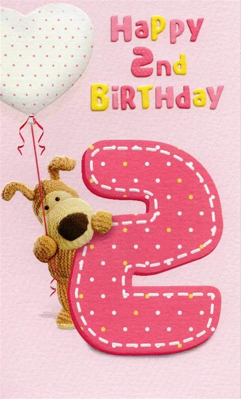 Birthday Card Image 2 by Boofle Happy 2nd Birthday Greeting Card Cards