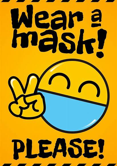 Mask Wear Poster Signs Posters Please Funny