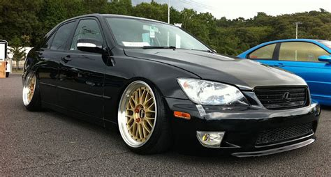 altezza lexus is300 toyota altezza lexus is300 slammed on gold bbs lm