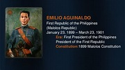 Presidents of the Philippines (Era & Constitutions) Summary