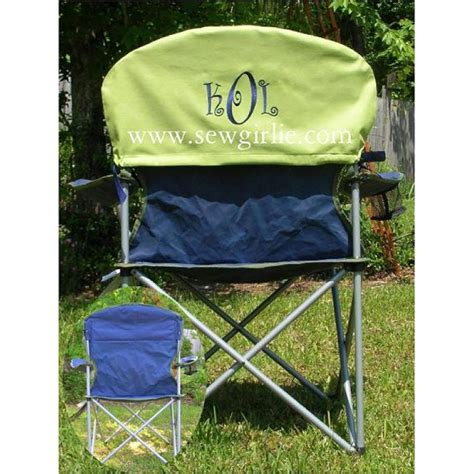 monogrammed folding chair back cover