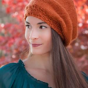 loom knit beret hat pattern painters cap slouch hat
