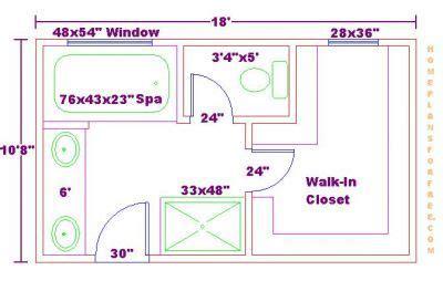 bathroom and closet floor plans free 10x18 master bathroom addition floor plan with walk