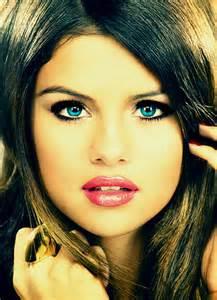 Selena Gomez with Blue Eyes
