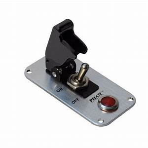 Black Safety Cover Aircraft Boat Toggle 12v Switch Red