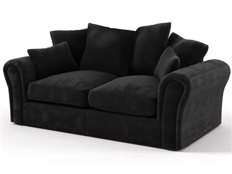 canapé noir tissu canapé tissu quot dayana quot 2 places noir 86002 86005