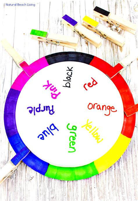 color activities for toddlers preschool and kindergarten 959   Teaching Colors Activities Color Matching Craft pin2
