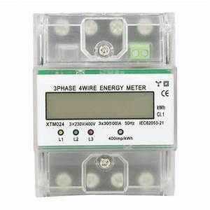 Hot Precise Digital 3 Phase 4 Wire Din Rail Electric Meter