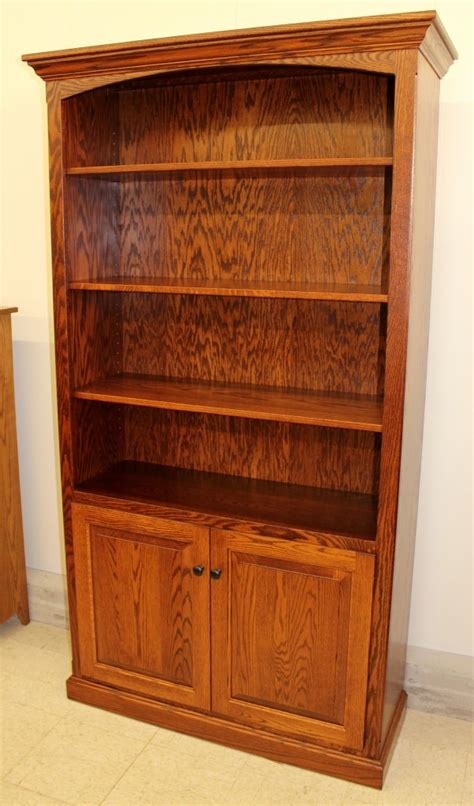 Wide Bookcase With Doors by 6 1 2 Deluxe Traditional Bookcase With Doors 43 1 2