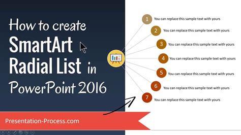 create smartart radial list  powerpoint