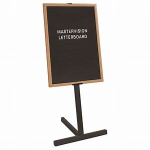 mastervision letter board stand with wood frame schoolsin With letter board wood