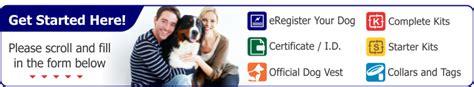 instant registration  assistance dog registry