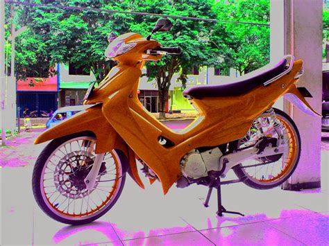 Modif Motor Smash 110 suzuki smash 110 modifikasi thecitycyclist