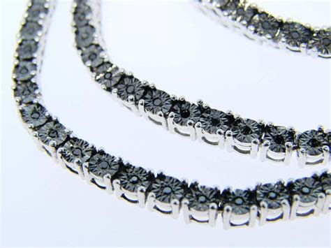 Newyorkjewels 1 Row All Black Diamond Chain Necklace 3. Anklet For Mens. Rectangular Wedding Rings. Online Jewelry Shopping Websites. Large Diamond Wedding Rings. Buy Glass Beads In Bulk. Pink Gemstone Necklace. Male Rings. Cute Anklets