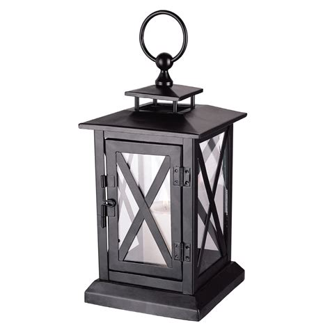 shop large black candle lantern at lowes com