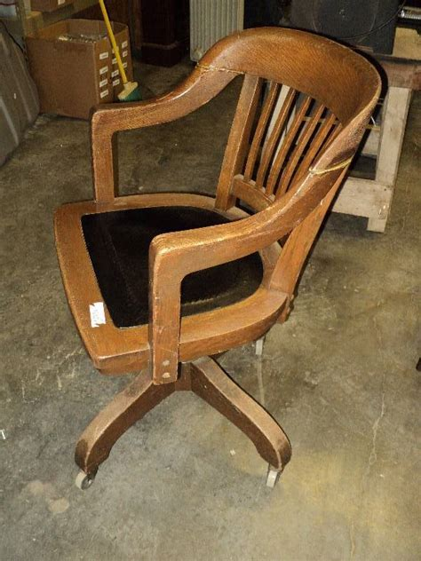 wooden rolling desk chair the resale stand weekly